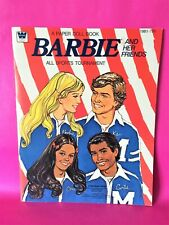 Vintage 1975 'Barbie & Her Friends ~ All Sports Tournament' Paper Dolls Booklet