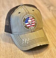 Q Army Flag Qanon WWG1WGA Unisex Hat Cap 🇺🇸 Embroidered Patch Style Trump Vote