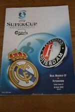 Real Madrid v Feyenoord 2002 UEFA Super Cup Programme