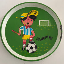 Argentina 78 Gauchito World Cup Mascot Vintage Beer Tray - Rare