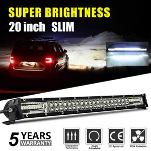 """20 zoll 2 ROW LED ARBEITSLICHT BAR COMBO FÜR UTE ATV OFFROAD BOOT TRUCK FORD 22"""""""