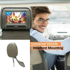 7'' Grey Car Built-In Headrest Monitor Headphone DVD Player Game USB IR Remote