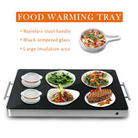 Commercial Electric Food Warming Tray Food Warmer Stainless Steel 400W Black