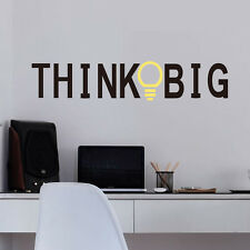 Personalized Think Big Wall Lettering Words Decal Vinyl Quote Sticker Decor