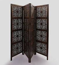 Shilpi Wooden Room Divider Partition Screen in  4Panel