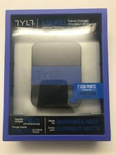NEW TYLT 4.8A Wall Travel Charger Universal Dual USB Ports smartphone & tablet