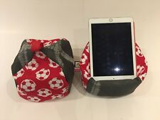 Football IPad tablet kindle cushion Beanbag stand holder
