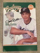 Giancarlo (Mike) Stanton Greensboro Grasshoppers Program 2010 Yankees Marlins