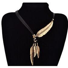 Choker Pendant Bib Statement Chain Chunky Leaf Crystal Necklace Fashion Tassels