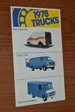 ★★1978 CHEVY VAN/ HIGH CUBE/ STEP KING STEEL ORIGINAL DEALER PROMO POSTCARD 78★★