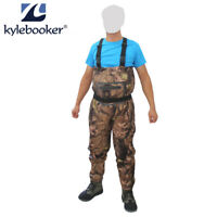 Fly Fishing Camo Chest Waders Breathable Jumpsuits Stockingfoot Wader