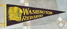 WASHINGTON REDSKINS - 1940's - PENNANT - EX+ SHAPE - ORIGINAL
