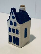 VINTAGE BLUE DELFT AMSTERDAM DUTCH HOUSE HOLLAND WITH CORK VGC