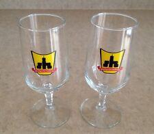 SET (2) VINTAGE GERMAN BEER GLASSES STUTTGARTER HOFBRAU 0.52L RASTAL
