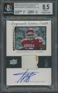 2009 Upper Deck RPA Patch Flashback #780 Adrian Peterson 2/25 BGS 8.5 9 Auto