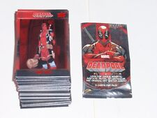 2019 UPPER DECK MARVEL DEADPOOL RED FOIL EMBOSSED BASE 100 CARD SET X-MEN CABLE!
