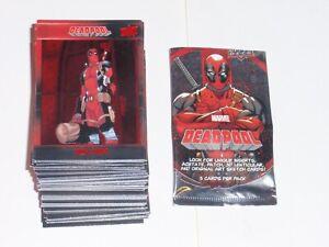 2019 UPPER DECK MARVEL DEADPOOL RED FOIL EMBOSSED BASE 100 CARD SET X-MEN CABLE!