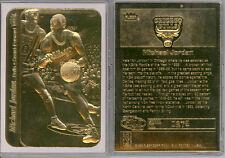 MICHAEL JORDAN 1998 FLEER STICKER '86 ROOKIE 23K GOLD CARD - White Border