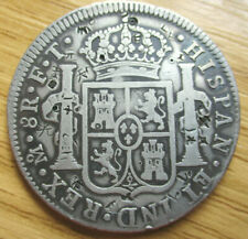 More details for  1802 ft mexico mo spanish colony 8reales (piece of eight)silver coin chop marks