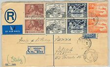 61373 -  British KUT - POSTAL HISTORY: REGISTERED STATIONERY COVER to ITALY 1949