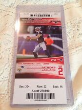NEW ENGLAND PATRIOTS GAME TICKET SEPTEMBER 27, 2015 DEFENDING 4X CHAMPIONS