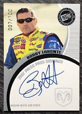 2007 PRESS PASS SIGNINGS Racing BOBBY LABONTE Auto/Autograph NASCAR #007/100