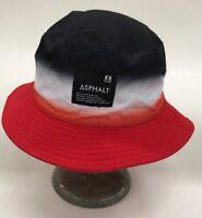 Asphalt Reversible Bucket Hat Black White Red Ombré Nice New Rare One Of One