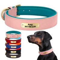 Personalisiert Hundehalsband mit Namen Gravur für kleine mittelgroße Hunde