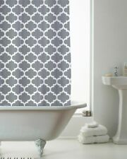 Moroccan Grey With Rings Shower Curtain Brand New Gift