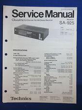 Technics SA-925 Receiver Service Manual Factory Original The Real Thing