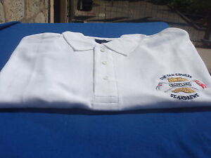 SCOTLAND GOLF POLO SHIRT WHITE OLD COURSE ST ANDREWS