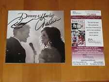 Donny Osmond & Marie Osmond signed autographed Donny & Marie CD Booklet JSA