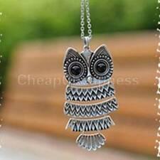 JB Women Vintage Silver/Copper Owl Pendant Necklaces Long Chain Cheap z´Ñ TR