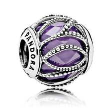 Genuine Pandora S925 Interwining Radiance Purple CZ Charm Bead 791968ACZ