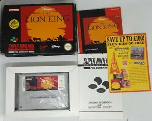Disney's The Lion King, SNES Game, Super Nintendo, Boxed & Complete - VGC