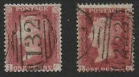 SG41-1d.Deep Rose-Red In 2 Shades. Cancelled132-Brighton & 223-Coventry.Ref.1128
