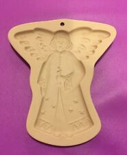 BROWN BAG STONEWARE SHORTBREAD COOKIE MOLD PEACEFUL ANGEL 1994 L👀k