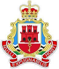 Enmarcado impresión-Royal Gibraltar Regiment condecoración gorro (Emblema Militar Ejército Foto)