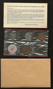 Denver Mint Coin Packet with War Date Silver Nickel and Foreign Coins