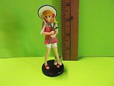 "Evangelion Asuka Langley 3.25""in Figure Holding a Flower w/Extra Bonnet Cute!"