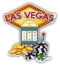 Las Vegas Casino Car Bumper Sticker Decal 4'' x 5''