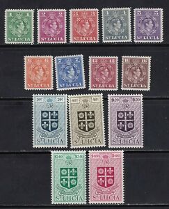 St. Lucia stamps #135 - 148, MHOG, VF - XF, complete set, SCV $45.85