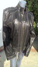 Scully Leather 991 Black Soft Plonge Motorcycle Jacket (L)