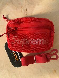 Supreme SS20 Small Shoulder Bag Dark Red Reflective NWT
