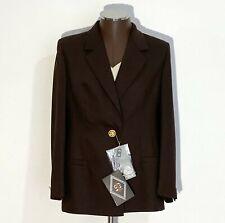 GIANI VERSACE men's blazer coat 100% wool new brown RRP $586