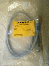 """TURCK RSM RKM 572-1M Double-Ended Strgt M to Strgt F 7/8"""" Cordset ID# U5447-11"""