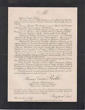 § 1913 FAIRE-PART DÉCÈS GASTON BELLE, MINISTRE PLÉNIPOTENTIAIRE §