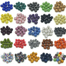 Wholesale lot Diy Cz micro pave disco crystal 25 colors shamballa beads spacer