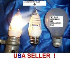 6 PCS CCF 03 COLD CATHODE 3 WATT flame tip LIGHT BULB 120 volt  night light cfl