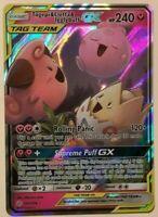 ULTRA RARE Togepi & Cleffa & Igglybuff GX 143/236 Tag Team Pokemon Fairy Trio LP